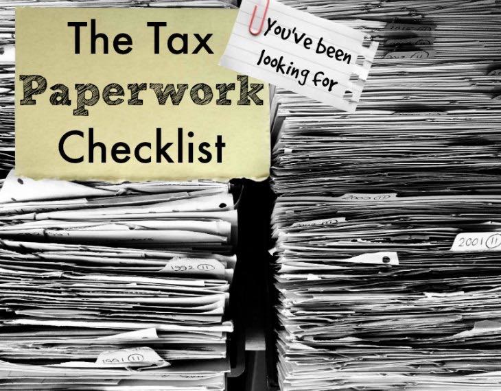 Teri Suddard's Tax Paperwork Checklist