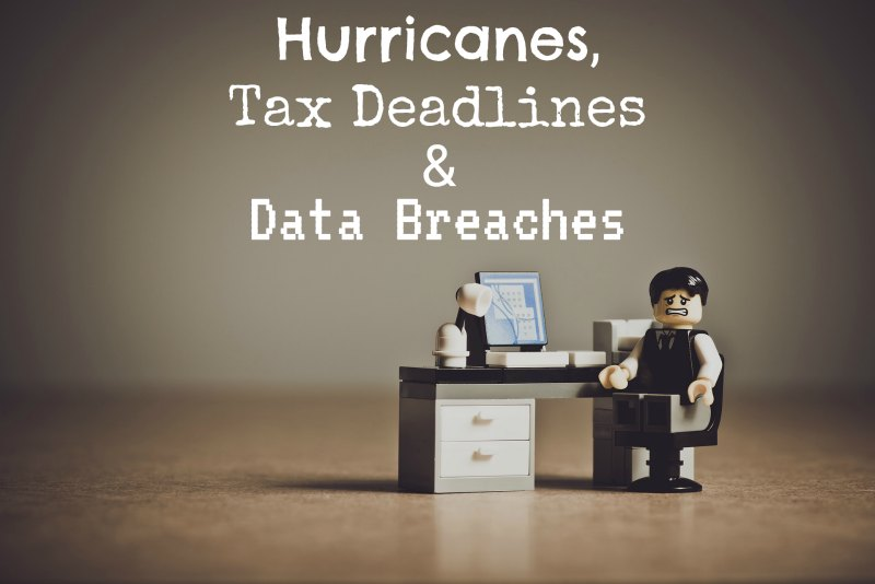 Hurricanes, Tax Deadlines in New Castle County, Delaware and Data Breaches