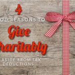 Suddard's Four Good Reasons To Give Charitably, Aside From Tax Deductions