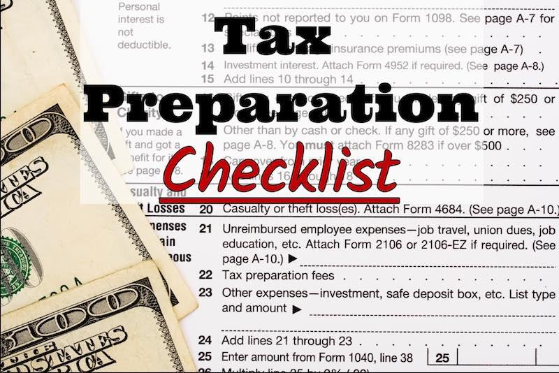 2017 Tax Preparation Checklist